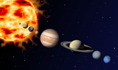 neptun: solar system Stock Photo