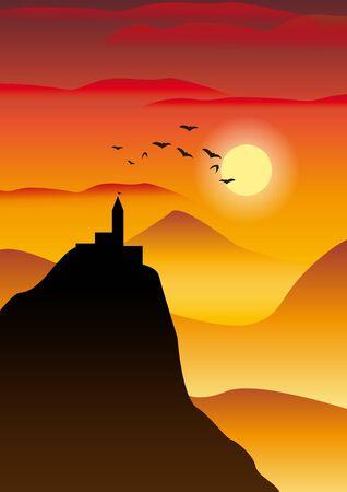 sundown Ilustração
