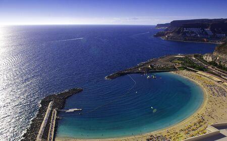 gran: Playa del Amadore - Gran Canaria  Stock Photo