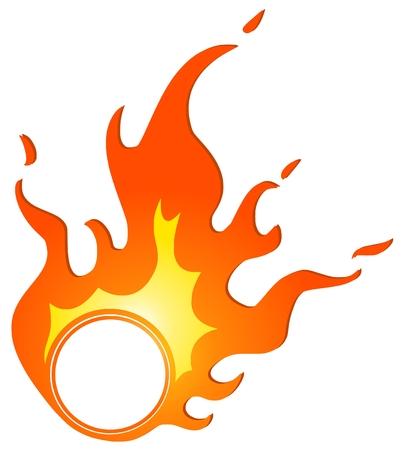 burning ring Stock Illustratie