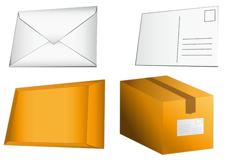 mailer: from postcart to packet Illustration