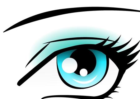 аниме: голубые глаза