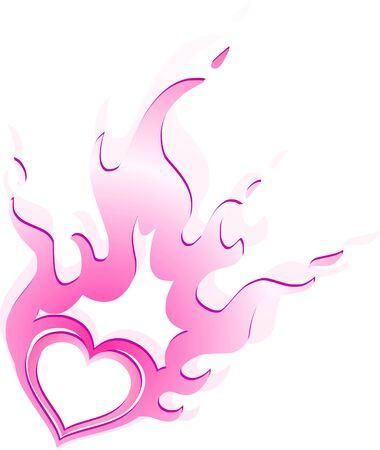 burning heart photo