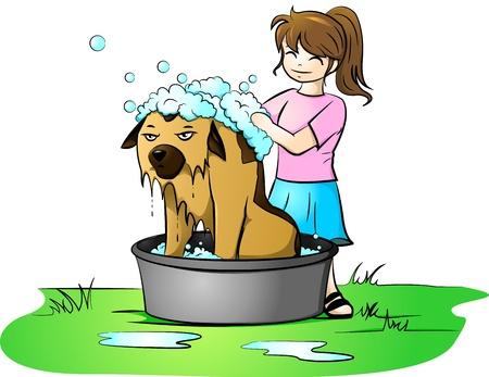 wash tub: bath day