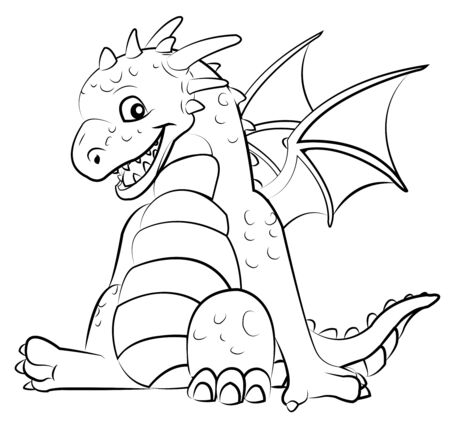little dragon Stock Vector - 9513375