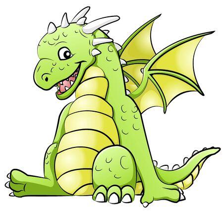 small reptiles: piccolo drago Vettoriali