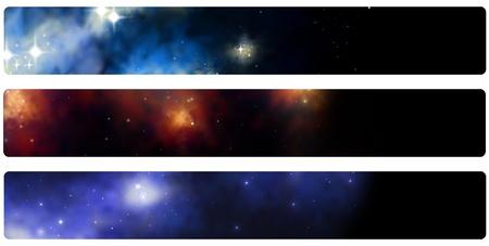 banner  header  bladwijzer stardust Stockfoto