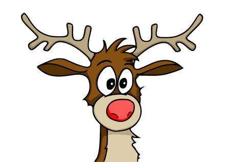 red nose: reindeer