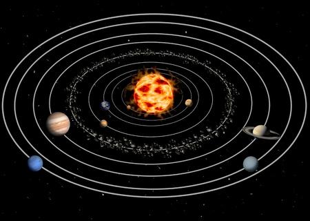 physics: solar system Stock Photo