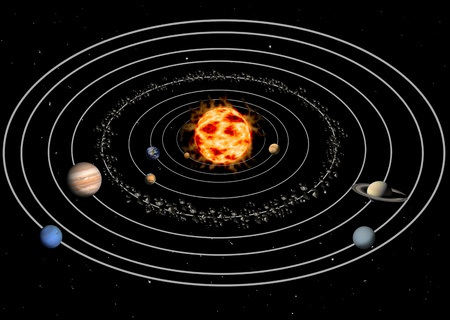 zonnestelsel Stockfoto