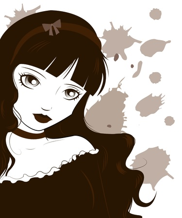 anime young: Gothic Lolita Illustration