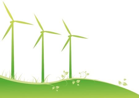 Windmühlen Vektorgrafik