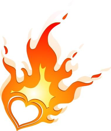 burning heart Vector