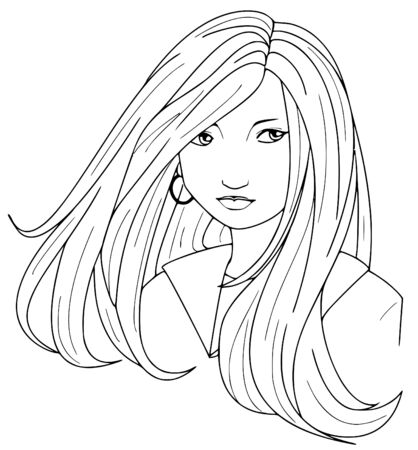 manga style: Woman Illustration
