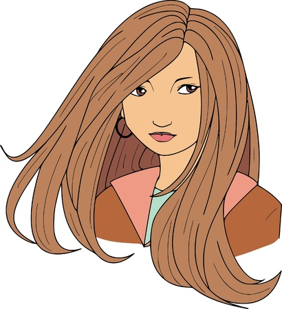 hairstyling: Woman Illustration