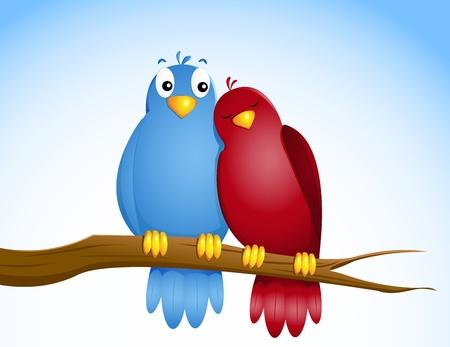 cuddle: pair of birds