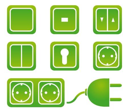 prise de courant: interrupteurs et des prises