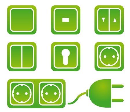 switches and sockets Stock Vector - 12372383