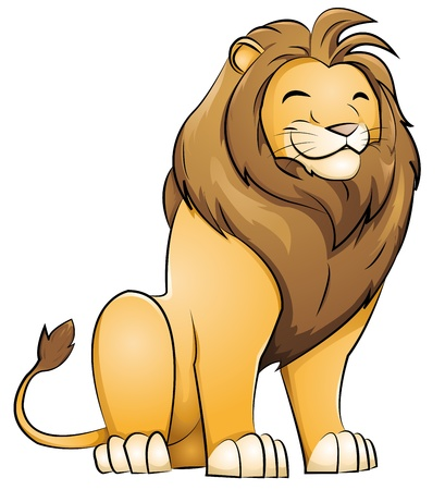 male animal: grinning lion