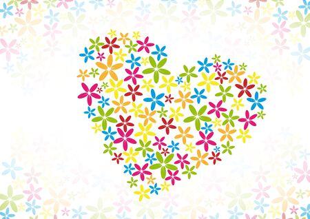 flower heart Ilustração