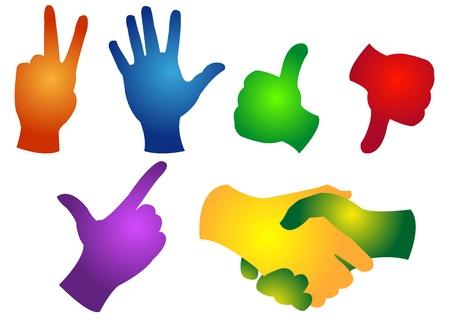 gesticulation: hands Illustration
