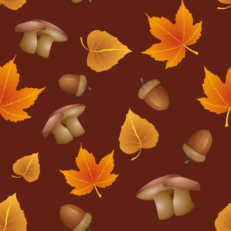 seamless pattern - Autumn Vector