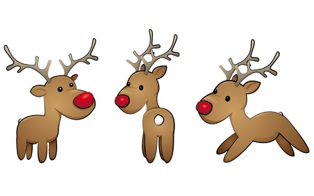 reindeer-set Vector