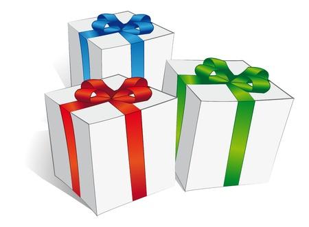 dar un regalo: regalos Vectores