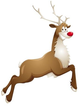 christmas reindeer: grinning reindeer