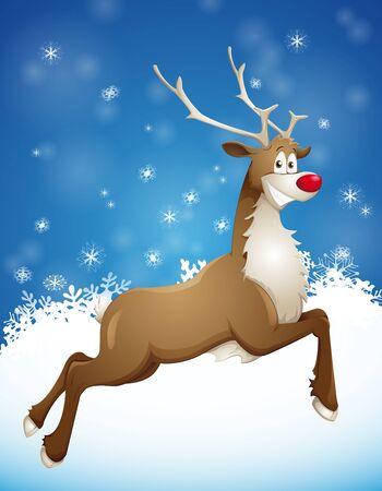 grinning reindeer Stock Photo - 16401983