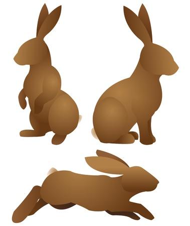 silhoette: rabbit-set