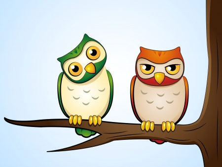 bird of prey: owls Illustration