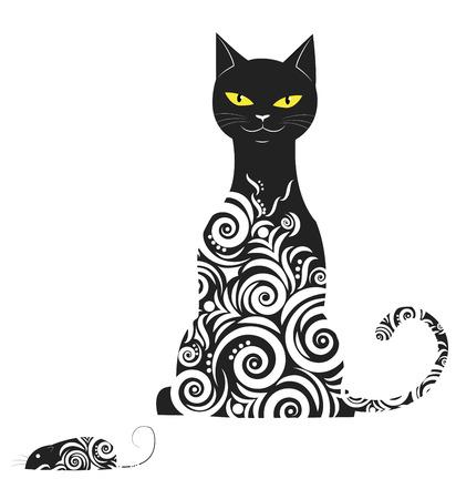 Ornamental cat Ilustração