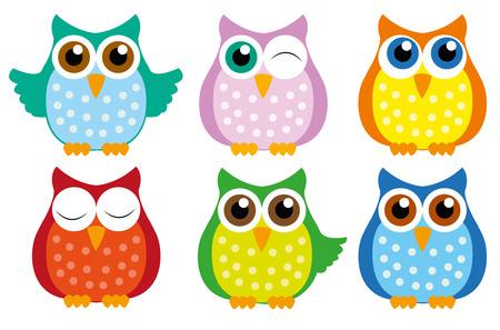 owl-set Stock Illustratie