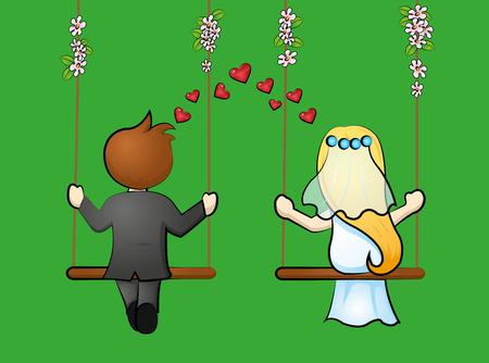 bridal pair Иллюстрация