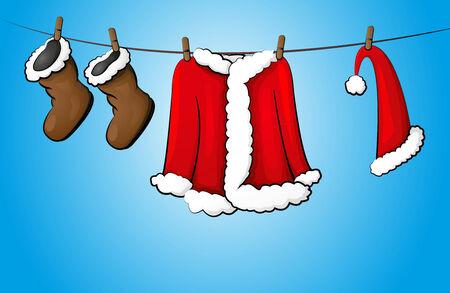 christmas costume on the line
