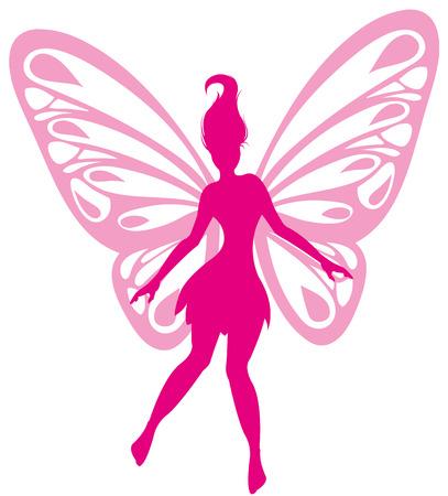 donna farfalla: folletto Vettoriali