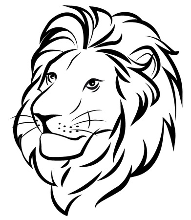 black male: lion Illustration