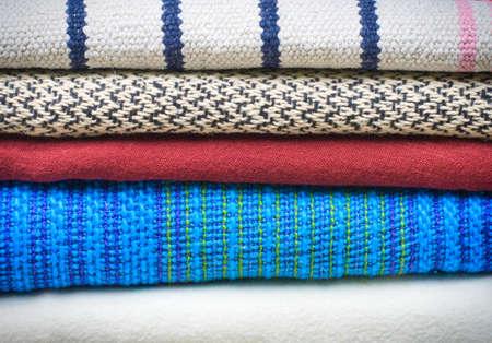 different blankets Stok Fotoğraf