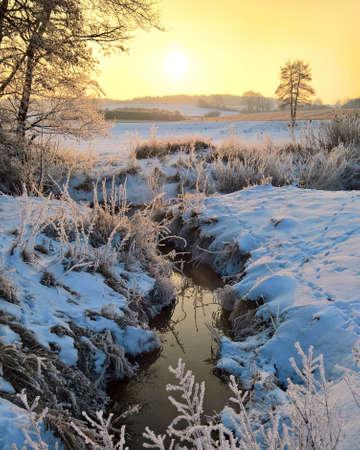 winter landscape background. Stok Fotoğraf