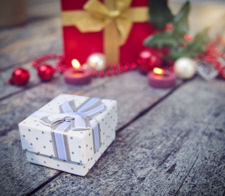 small present box for Christmas Imagens