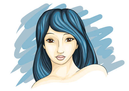 illustration of a beautiful woman Imagens