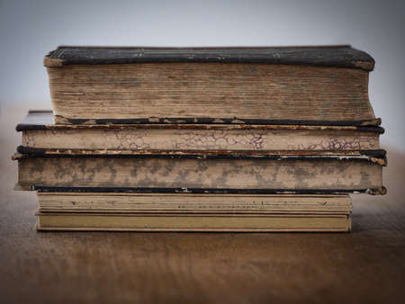 stacked old books
