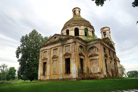 Abandoned and destroyed temple.