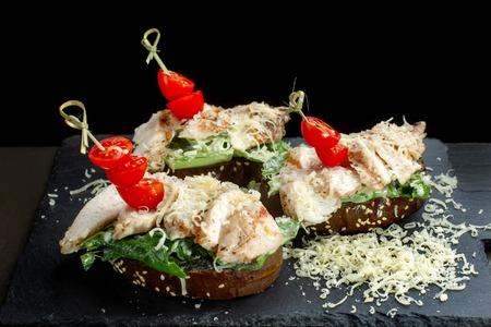 Diner style open faced hot chicken sandwich-2.