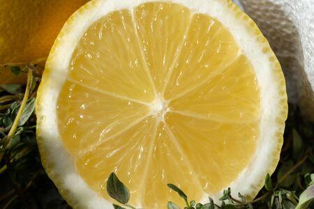 Macro of lemon slices. Tasty and bright-2.