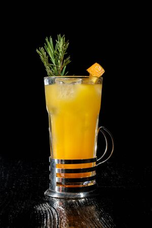 Paradise is a cocktail that contains gin, apricot brandy and orange juice. Stok Fotoğraf