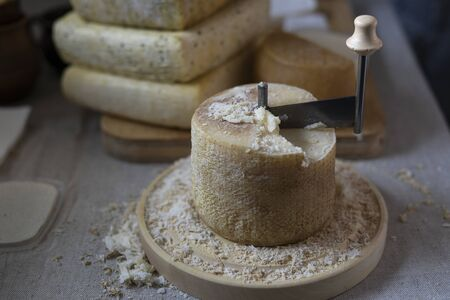 Scraping Device of Swiss Cheese Tete de moine.