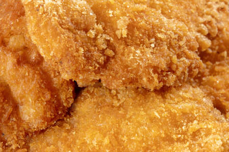 Image of the fried chicken is a best food. Macro photography.