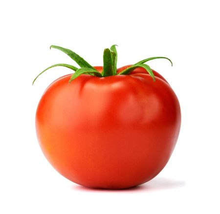 Juicy isolated tomato